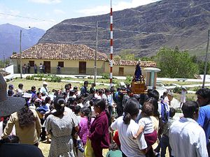 Cocabamba District - The Main Square of Cocabamba during the Popular Celebrations.
