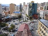 Vista de la ciudad de La Paz segunda ciudad en población y sede del gobierno en Bolivia