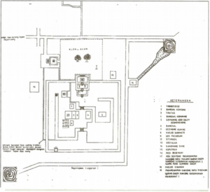 Plered - A map of Plered's walled kraton.