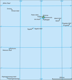 Map of Pohnpei State