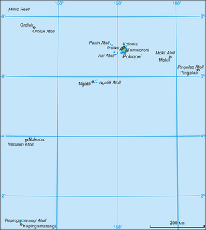 Oroluk Atoll - Map of Pohnpei State (with Oroluk Atoll)
