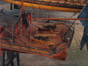 Pojama - Closeup view of the stern of the Brynhilda model