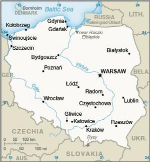Grodziskie - Image: Poland CIA WFB Map