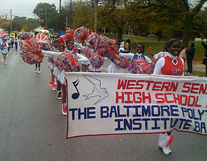 Baltimore Polytechnic Institute - Poly-Western Band at the 2008 Morgan State University Homecoming Parade.