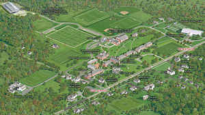 Pomfret School - Pomfret campus map - click to enlarge