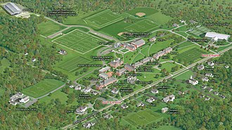 Pomfret School - Pomfret campus map - click to enlarge