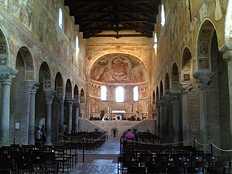Pomposa Abbey - Frescoed nave of the abbey church