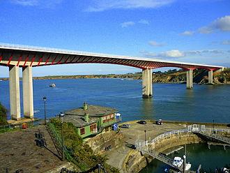 N-634 road (Spain) - Bridge between Asturias and Galicia, over the Eo river.