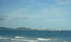 Porlamar - View of Porlamar from Pampatar (Margarita Island).