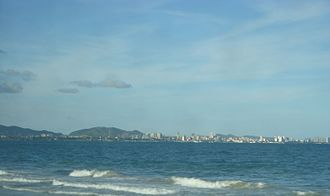 Porlamar - View of Porlamar from Pampatar (Margarita Island).