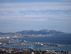 The Marseille port seen from Estaque