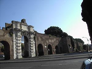 Porta San Giovanni (Rome) - External facade of the Porta San Giovanni.
