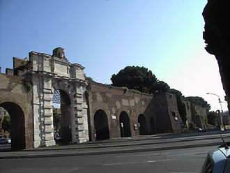 Porta San Giovanni (Rome) - External facade of the Porta San Giovanni.