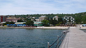 Portorož as seen from the pier