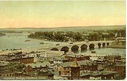 PostcardBulkeleyBridgeHartfordCT19061916