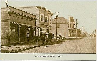 Pinole, California - Street scene in Pinole, about 1909
