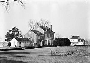 Potter Hall - Potter Hall land side in 1936