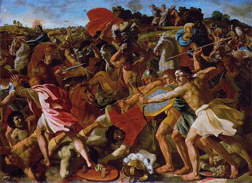Poussin Nicolas - The Victory of Joshua over the Amalekites copy