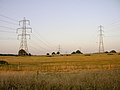 Power lines and pylons across fields between Chilworth and North Baddesley - geograph.org.uk - 26855.jpg