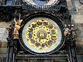 Praga, zegar astronomiczny na staromiejskim ratuszu DSC06586.jpg