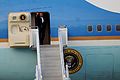 President Barack Obama exits Air Force One at RAF Fairford, England, Sept 140903-F-UE958-169.jpg