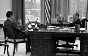 President Ford meets with CIA Director-designate George Bush - NARA - 7141445