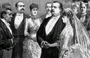 President Cleveland marrying Frances Folsom in the White House.