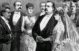 The wedding of Grover Cleveland and Frances Folsom