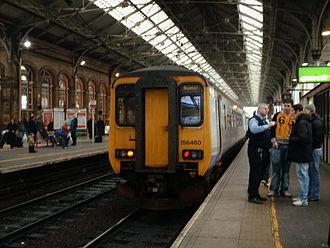 Preston railway station - Platform 2 looking south