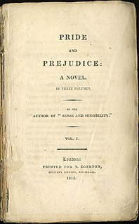 <i>Pride and Prejudice</i> Novel by Jane Austen