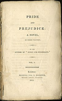 Title page from the first edition of Pride and...