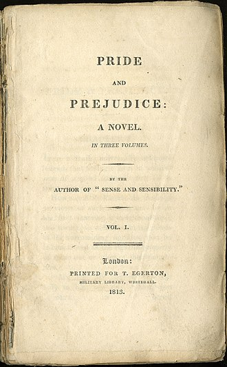 Pride and Prejudice - Image: Pride And Prejudice Title Page