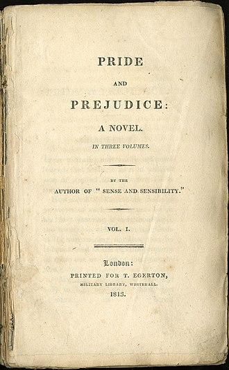 Pride and Prejudice - Image: Pride And Prejudice Title Page