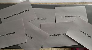 The Republicans (France) presidential primary, 2016 - Ballot papers used in the first round