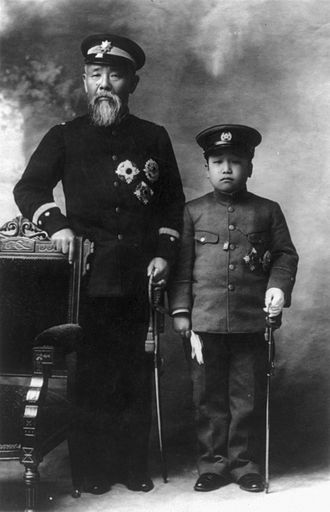 Itō Hirobumi - Prince Itō and the Crown Prince of Korea Yi Un