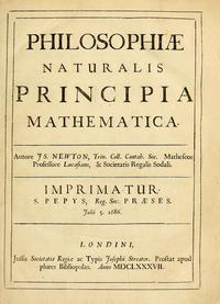 Philosophiae Naturalis Principia Mathematica cover