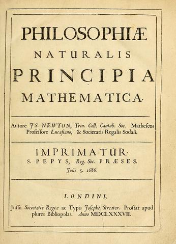 Титульный лист «Начал» Ньютона