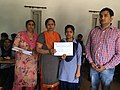 Prize and Certificate distribution ceremony at Wiki Awareness Campaign Karnal 04.jpg