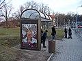 Prokopova, zastávka Olšanské náměstí, přístřešek Dambach.jpg