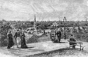 Prospect Terrace Park - Image: Providence, from Prospect Terrace 1886