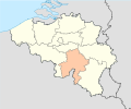 Province of Namur (Belgium) location.svg