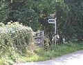 Public footpath to Oaken - geograph.org.uk - 515207.jpg