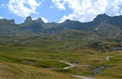 Pyrenees summit in the summer.