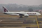 Qatar Airways Cargo, A7-BFC, Boeing 777-FDZ (28357897639).jpg