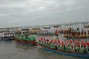 Taizhou, Jiangsu - Qintong Boat Festival held in Jiangyan