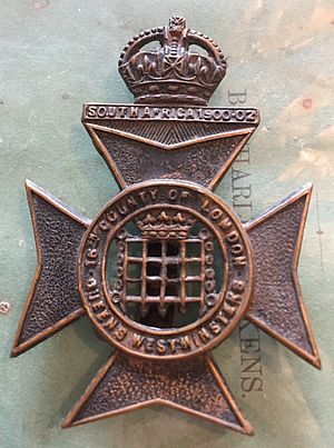 Queen's Westminsters - Cap Badge.
