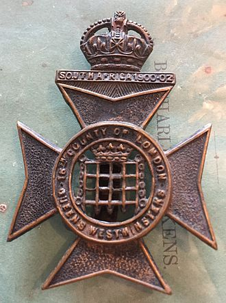 Queen's Westminsters - Cap Badge.