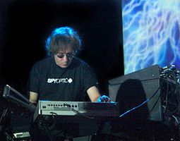 Barbieri with Porcupine Tree at the State Theater, Falls Church, VA, 12 October 2007.