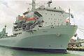 RFA Argus (A135) Aviation training - Casualty receiving ship 28,081 tonnes, Royal Navy. (11562312535).jpg