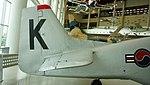 ROKAF TF-51D(030) stabilizer right side view at Jeju Aerospace Museum June 6, 2014.jpg